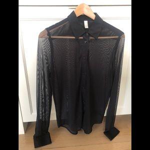American Apparel sheer black shirt